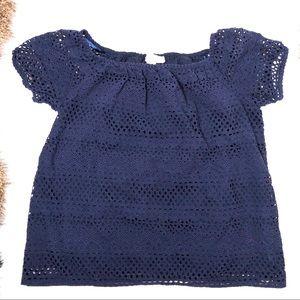➖MICHAEL➖ Michael Kors Navy Blue Top | Lacey Shirt